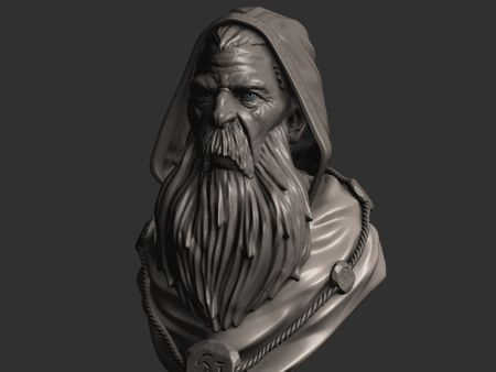 Old Wizard Bust