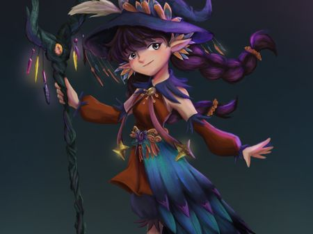 Character Design (Forest Wizard Guardian)