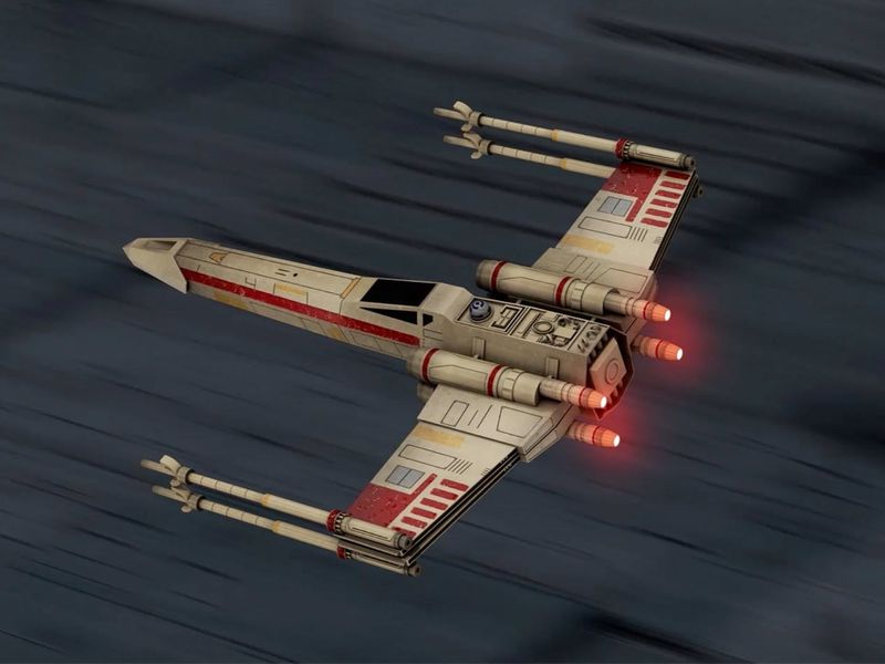 X-Wing Hard Surface Model - Looping Animation