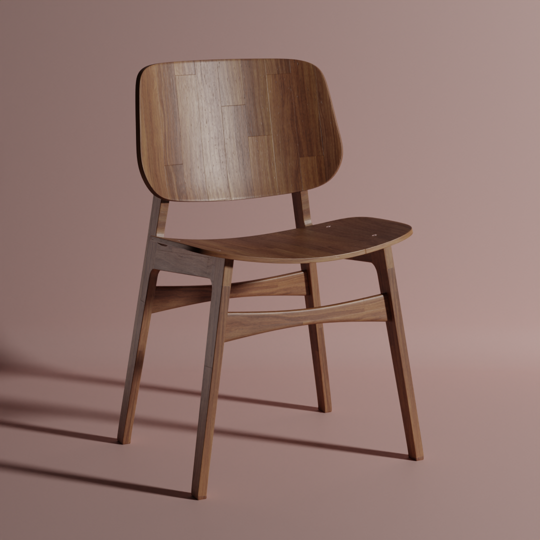 3D Modelled Chair
