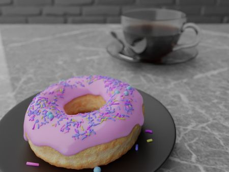 Donut and Coffee (Blender 2.8)