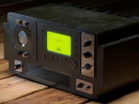 Radio militar antigua