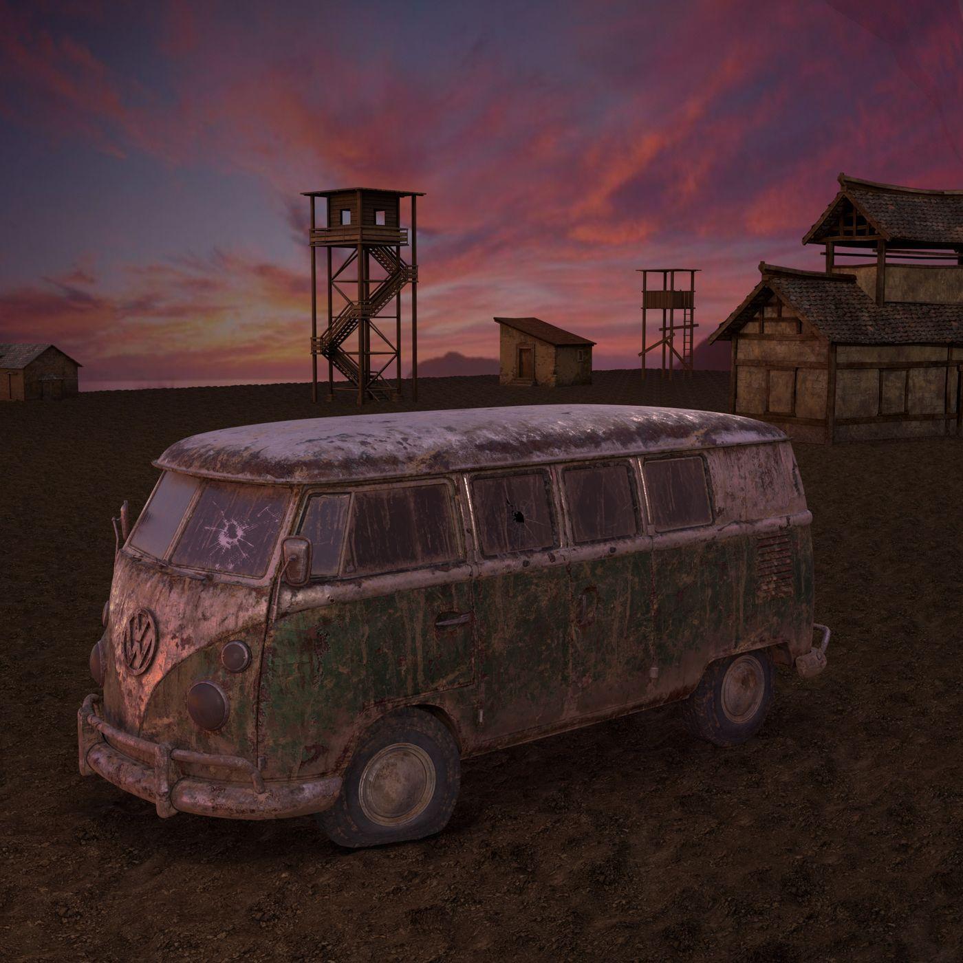 The old unused Minibus