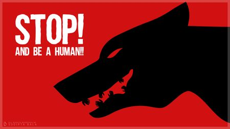 STOP! And be a human - a work of negative space