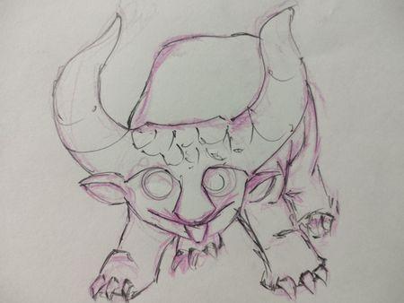 Baby. Lava hound... Monster