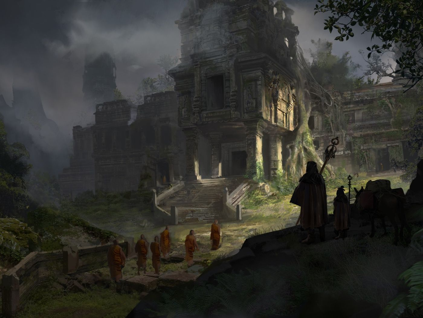 Mysterious Temple in Jungle