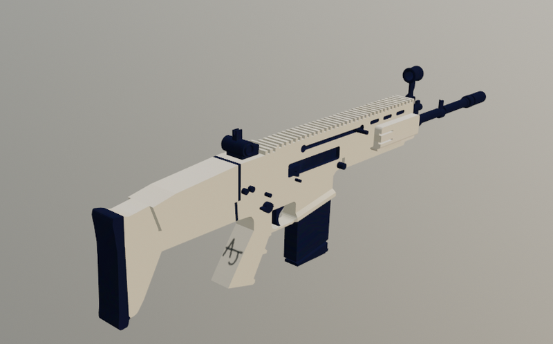 Scar H assault rifle