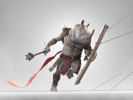 Rhinotaure fighter.