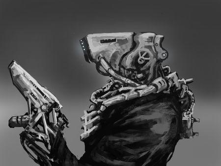Cyberpunk Assassin That's Going Nowhere
