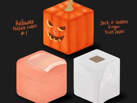 Halloween-themed Texture Cubes