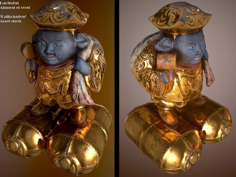 Daikokuten,one of the seven lucky gods(japan)