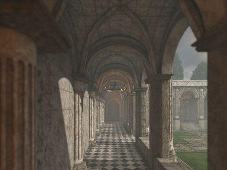 Gothic Style Corridor