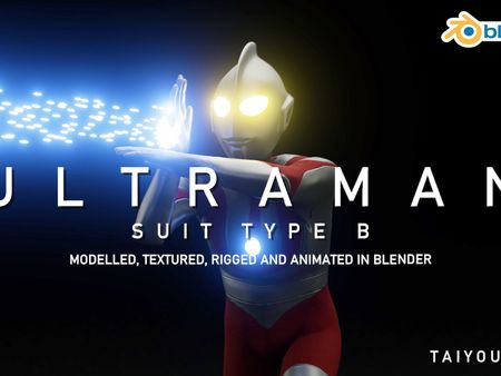 Ultraman Type B - Blender 2.8 (OCT 2020)