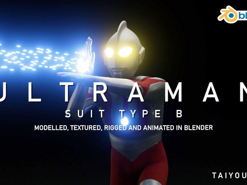 Ultraman Type B - Blender 2.8 (OCT 2020)