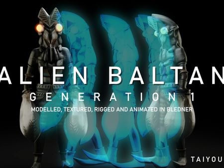 ALIEN BALTAN (1ST GENERATION) - Blender 2.8 (FEB 2021)