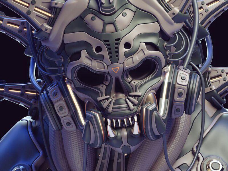 -Devil's armor-G.T (Green.Triangle) mecha mask