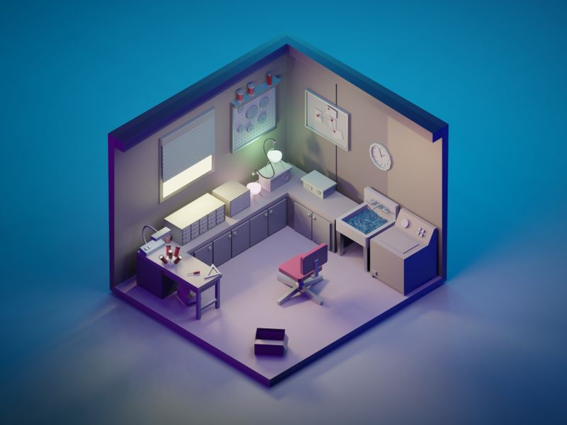 Rick and Morty Garage (Low poly)