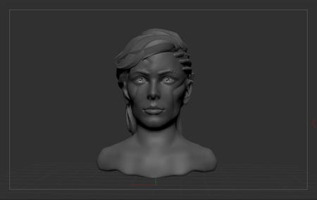 WIP - Cyberpunk woman sculpt