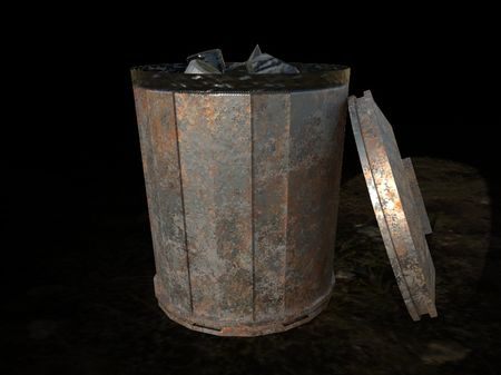 PBR Game Asset - Open Garbage can
