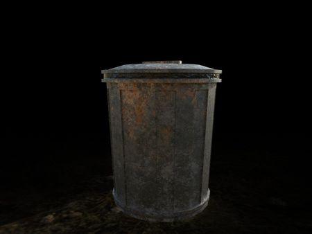 PBR game asset || Garbage Can
