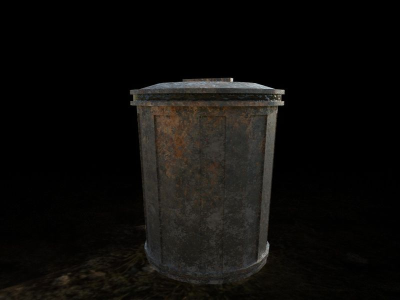 PBR game asset || Garbage Can