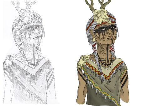 2D Character Art || Tribal Shaman