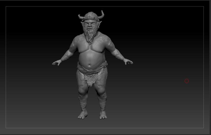 Viking troll sculpt