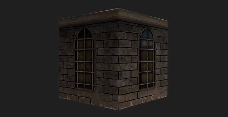 Substance Material: Wall with Window