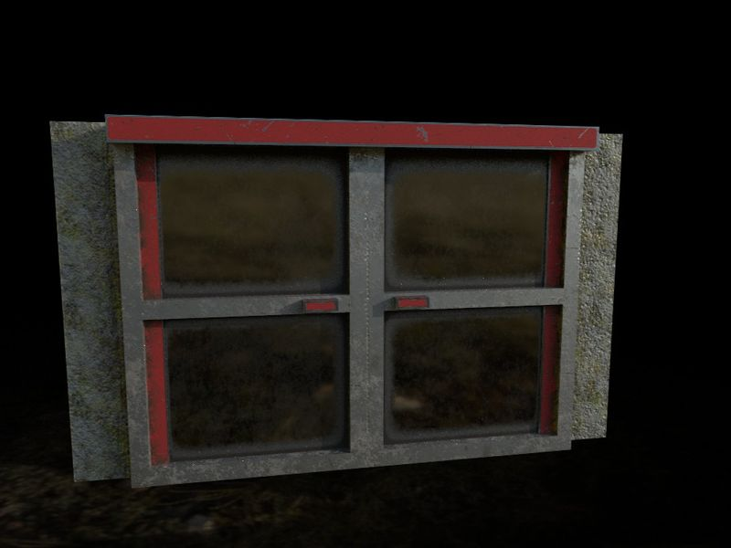 PBR game asset || Double door
