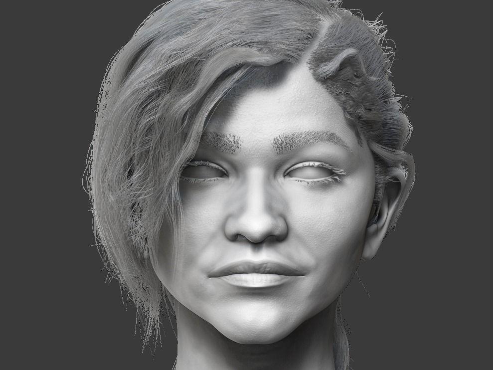 Zendaya Coleman Likeness Sculpt