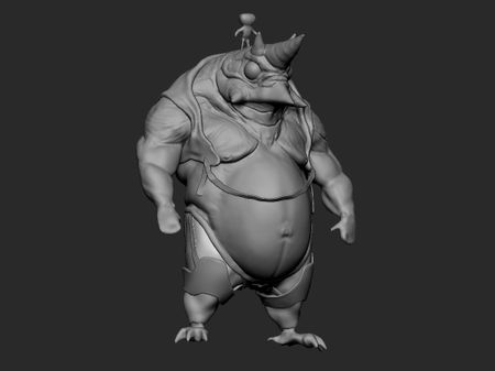 Lizardman realtime game character