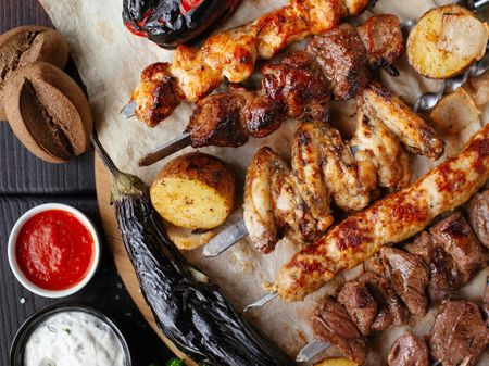 Tasty BBQ  platter