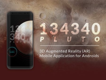134340 Pluto | 3D Augmented Reality Mobile App