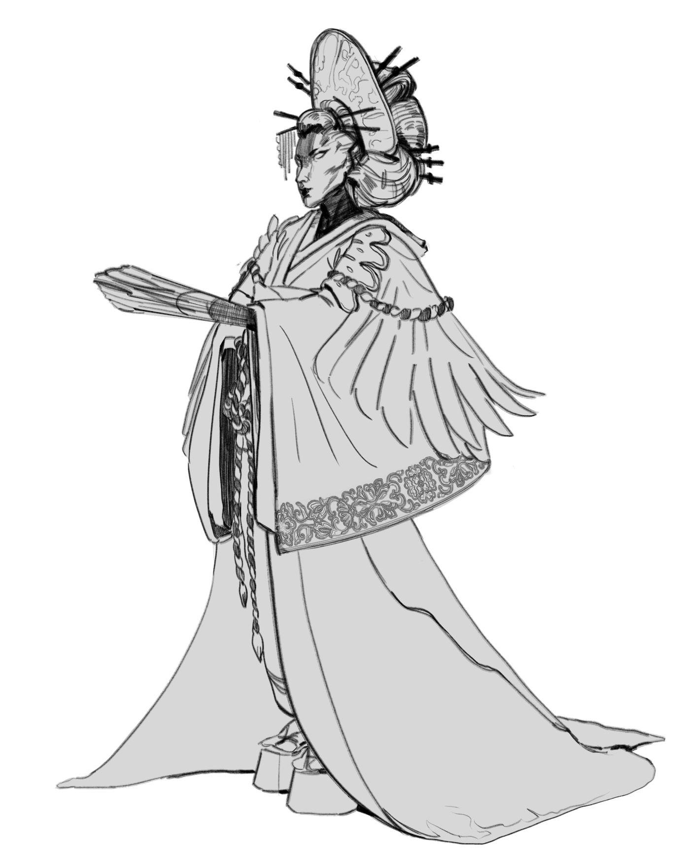 Geisha Sketch Teodorapetkova