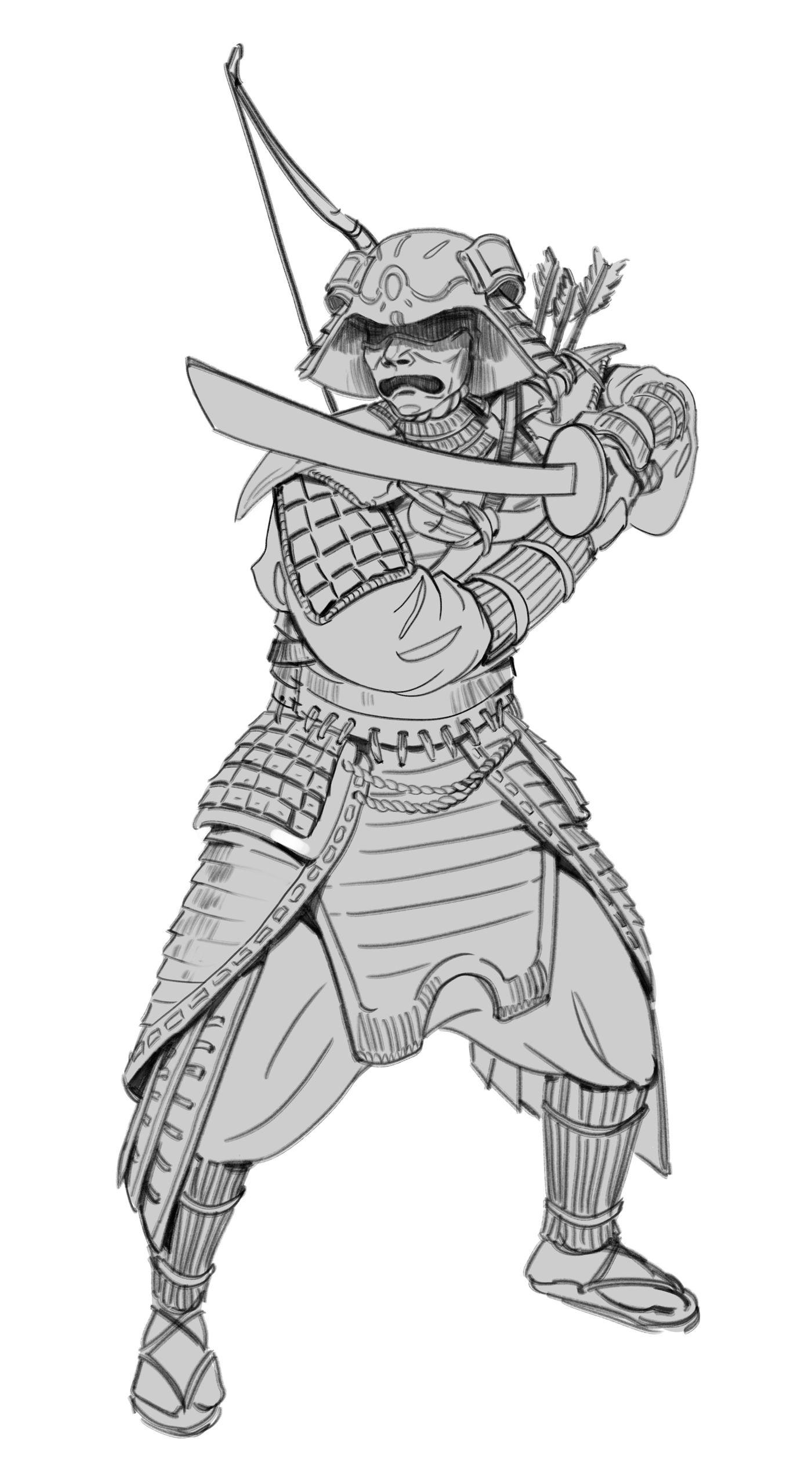 Samurai Sketch02 Pose Changed Teodorapetkova