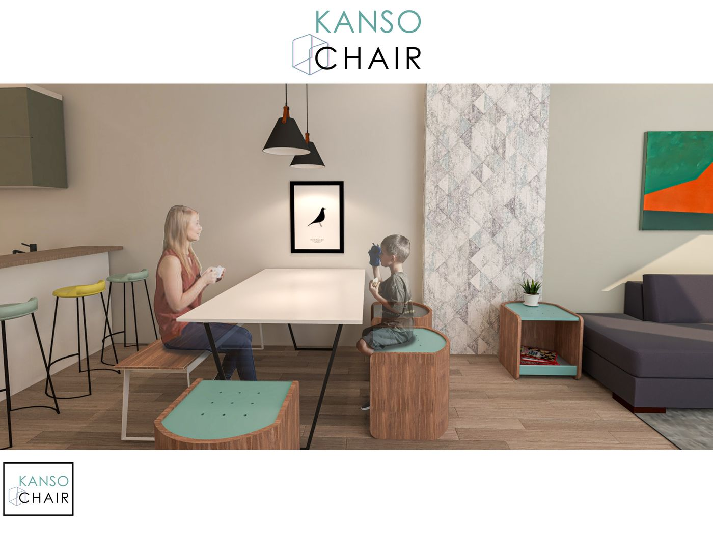 Kanso Chair : A multifunctional chair