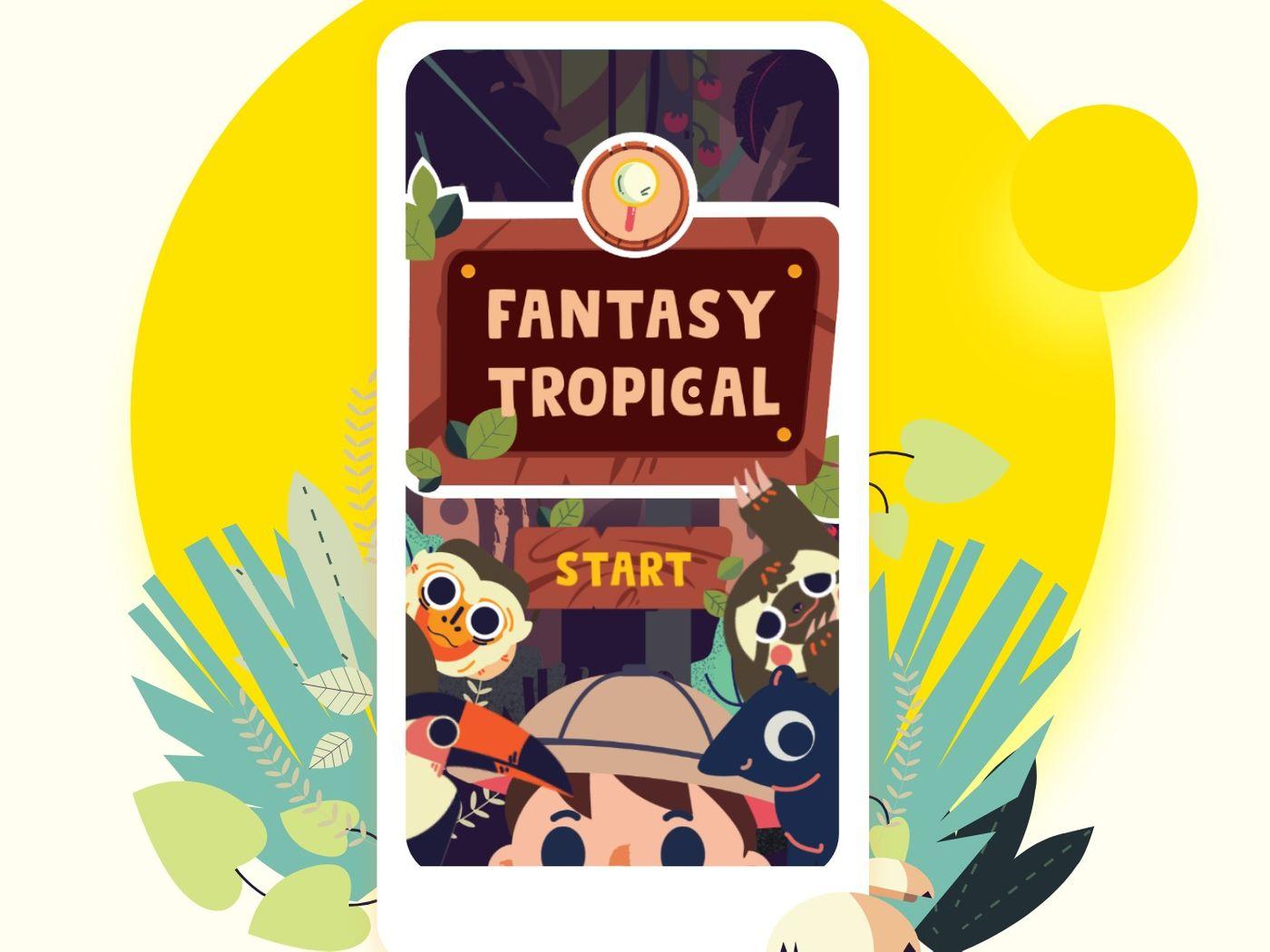 Fantasy Tropical   Scavenger Hunt