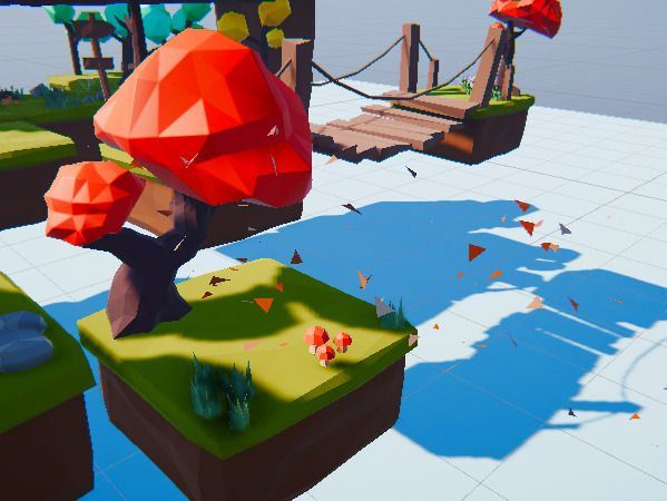 Low poly puzzle platformer