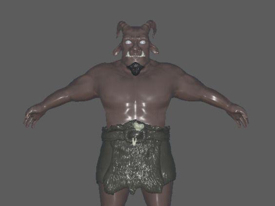 Orc-goat character sculpt