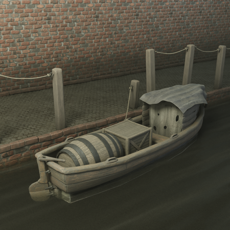 Boat with small Hut