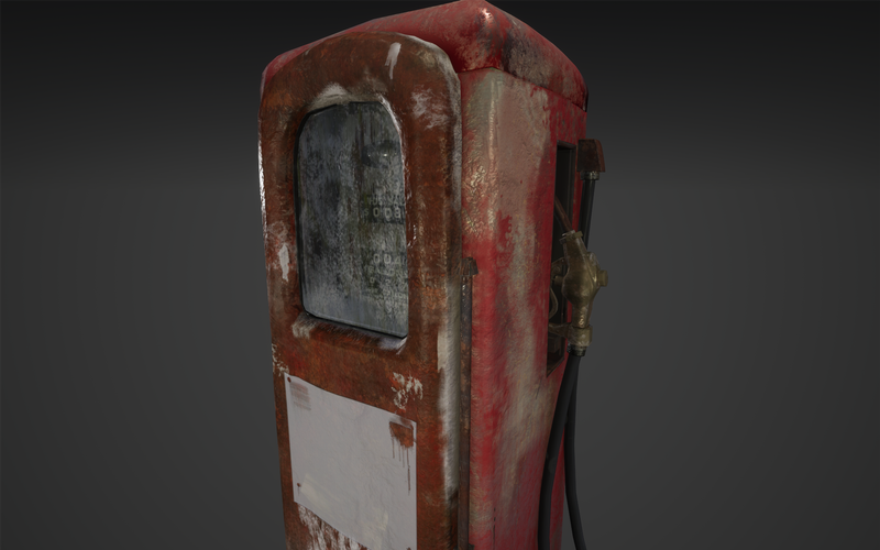 Vintage gas pump game prop
