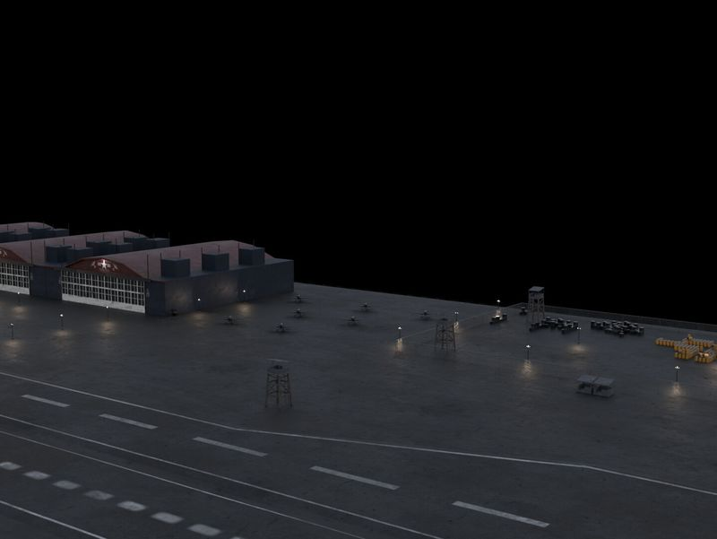 Airfield (low poly practice)