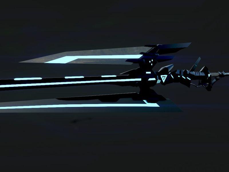 HTA-H.A. Stinger Delugears (3D Sci-fi spear )