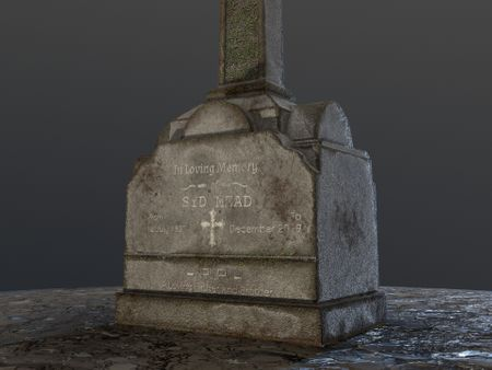 Headstone Design (Game Art - 2.5 Days)