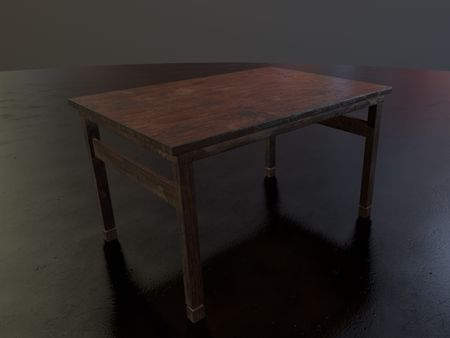 Wooden Table (3D Asset/Prop-low poly )