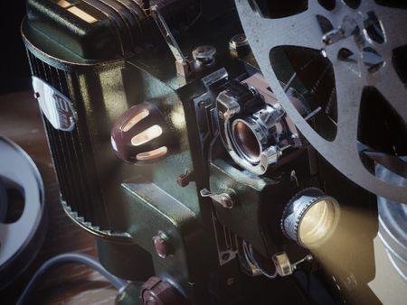 Vintage AMPRO Movie Projector