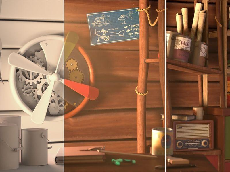 Grandfather's Cabin (Interior Scene) - Au-Dessus de Nous
