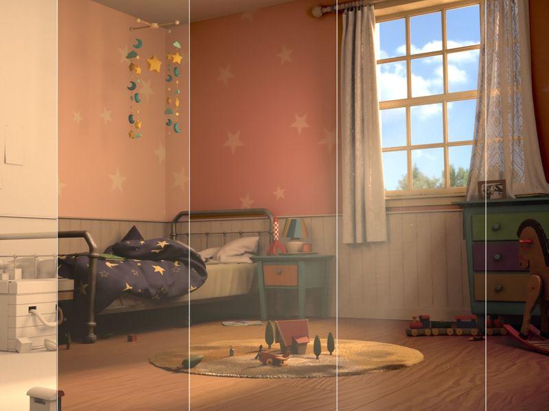 Lino's Bedroom (Interior Scene) - Au-Dessus de Nous