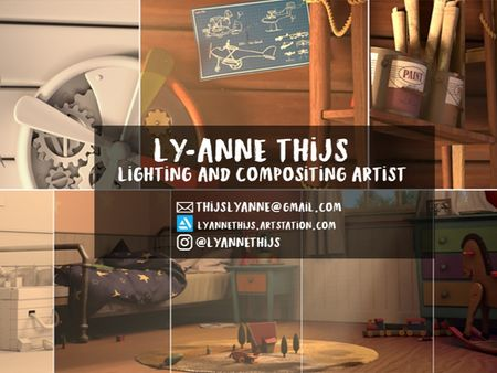 Demoreel Lighting and Compositing Artist - Ly-Anne Thijs