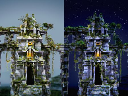 Tlaloc temple - Facade 2021